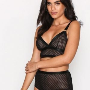 Topshop Fishnet High Waist Knicke Brief Alushousut Black