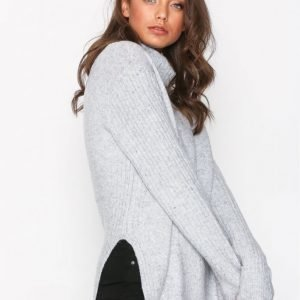 Topshop Funnel Neck Jumper Poolopusero Grey Marl