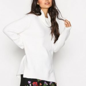 Topshop Funnel Neck Knitted Jumpe Neulepusero Ivory