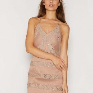 Topshop Heat Sealed Plunge Dress Kotelomekko Nude