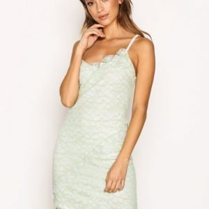 Topshop Lace Trim Dress Kotelomekko Mint