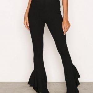 Topshop Mermaid Frill Flare Trousers Housut Black