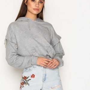 Topshop Moto Flower Embroidered Denim Mom Shorts Shortsit Light Blue Denim