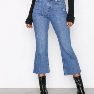 Topshop Moto Kick Flare Jeans Farkut Black