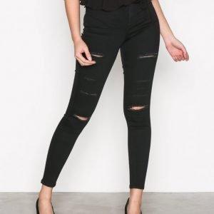Topshop Moto Super Rip Joni Jeans Skinny Farkut Black