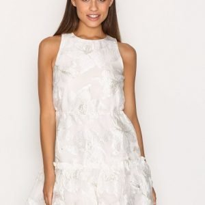 Topshop Organza Drawcord Shift Dress Skater Mekko Ivory