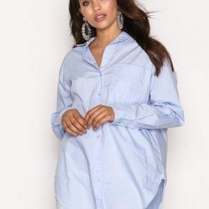 Topshop Poplin Shirt Kauluspaita Light Blue