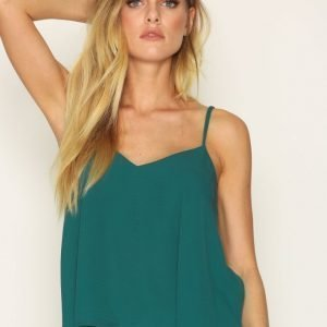 Topshop Rouleau Swing Cami Toppi Petrol