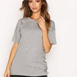 Topshop Side Lace Up Tee T-Paita Grey Marl