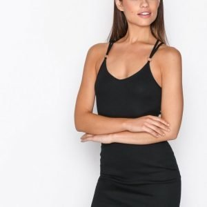 Topshop Strappy Back Mini Dress Kotelomekko Black