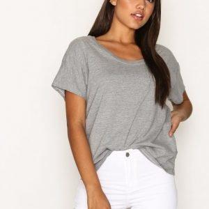 Topshop Washed Scoop Neck T-Shirt T-Paita Grey Marl