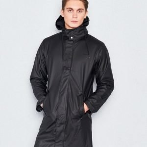Tretorn PU Trenchcoat Men's 11 Jet Black