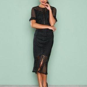True Decadence Detail Short Sleeve Dress Kotelomekko Black