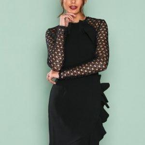 True Decadence Lace Frill Detail Dress Kotelomekko Black