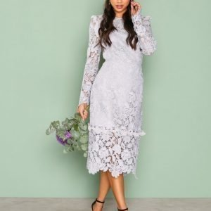 True Decadence Lace Longsleeve Dress Kotelomekko Light Grey