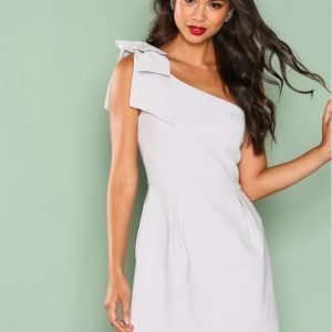 True Decadence One Shoulder Frill Dress Kotelomekko Light Grey