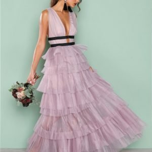 True Decadence Short Sleeve Frill Dress Maksimekko Lilac