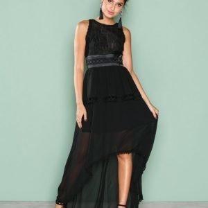 True Decadence Sleeveless Mesh Dress Maksimekko Black