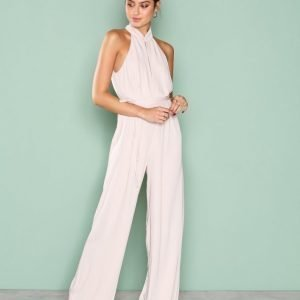 True Decadence Turtleneck Jumpsuit Stone