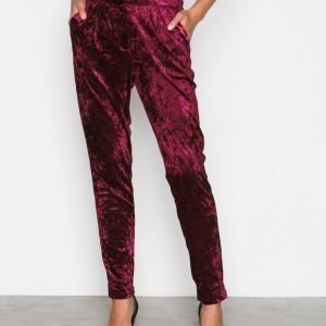 True Decadence Velvet Trousers Housut Burgundy