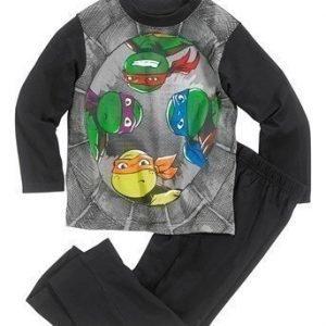 Turtles Pyjama Musta Kuvioitu