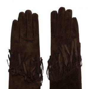UNMADE Copenhagen Suede Glove W Fringes hanskat