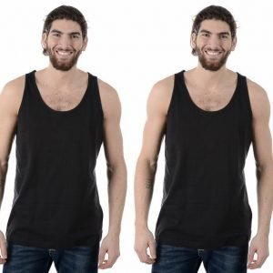 U.We.Ar M Tank Top 2-Pack Puuvillatoppi Musta