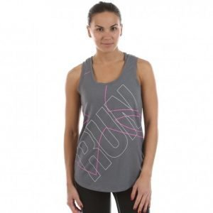 Under Armour Oversize Run Graphic Tank Treenitoppi Harmaa