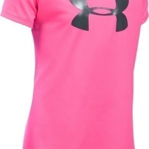 Under Armour T-paita Solid Big Logo Pink Punk Korall