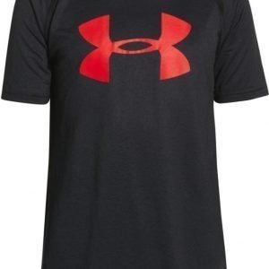 Under Armour T-paita UA Tech Black/Risk Red Blue