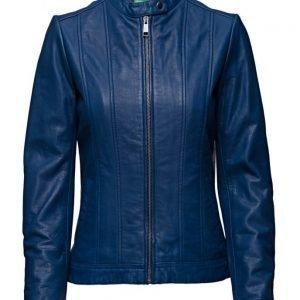 United Colors of Benetton Leather Jacket päällystakki