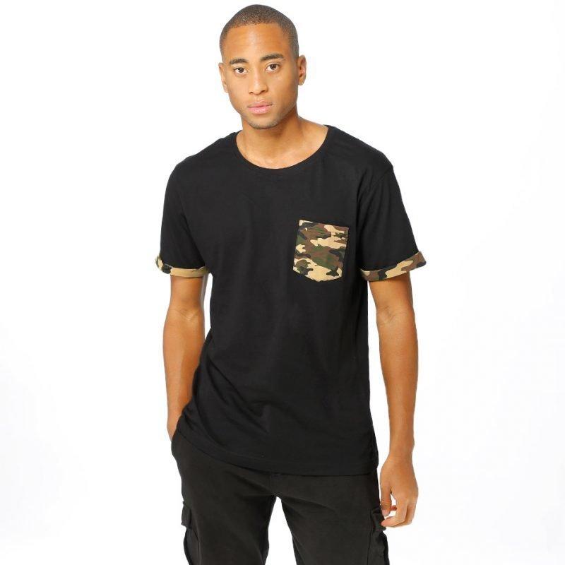 Urban Classics Camo Contrast -t-paita