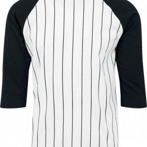Urban Classics Contrast 3/4 Sleeve Baseball Tee T-paita