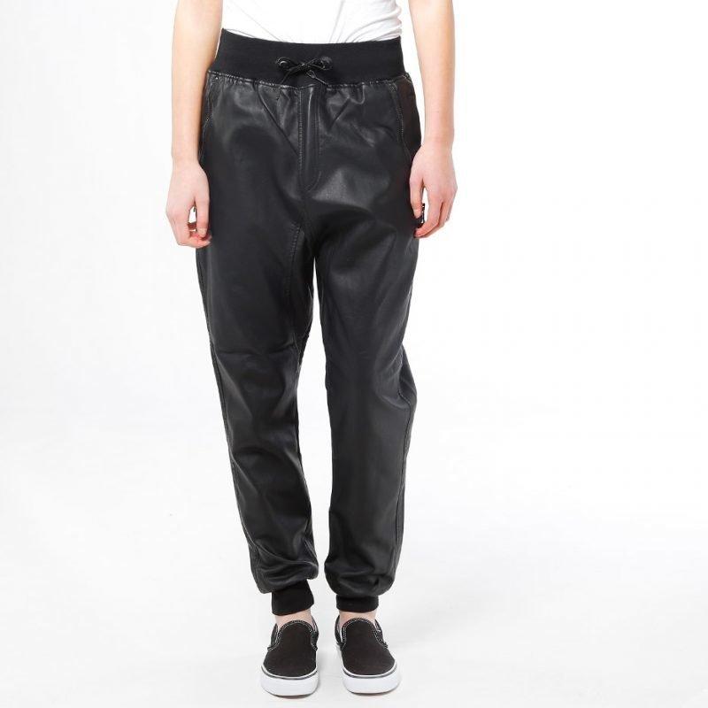 Urban Classics Deep Crotch Leather Imi -housut