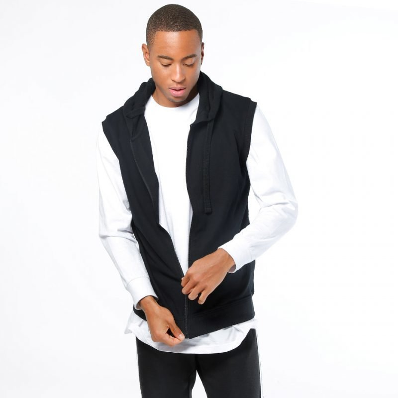 Urban Classics Sleeveless Terry -zip huppari