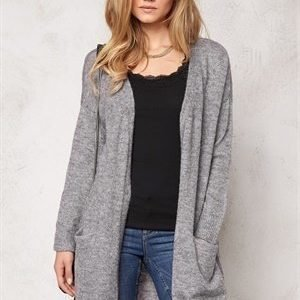 VILA Boom l/s knit cardigan Light Grey Melange