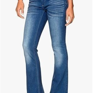 VILA Calm 5p Flared Jeans Medium Blue Denim