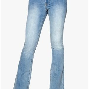 VILA Calm Braid Jeans Light Blue Denim