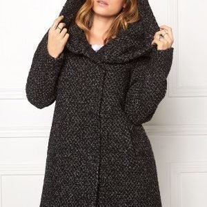 VILA Cama Favored Coat Grey melange/ Black