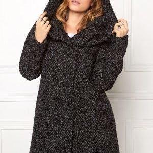 VILA Cama Favored Coat Grey melange/ Black