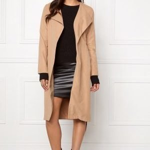 VILA Can Long Coat Dusty Camel