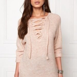 VILA Cant String Knit Top Rose Dust