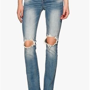 VILA Chill 5p Skinny Bootcut Medium Blue Denim