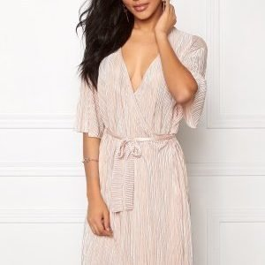 VILA Claudie Plizze Dress Rose Dust