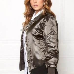 VILA Concrete Sateen Jacket Granite Grey