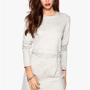 VILA Dara L/S Dress Light Grey Melange