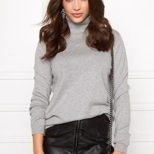 VILA Division Rollneck knit Light Grey Melange