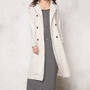VILA Emmely long Trenchcoat Moonbeam