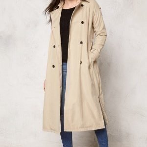 VILA Emmely long Trenchcoat Soft Camel