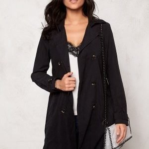 VILA Emmely mid trenchcoat Black